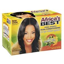 Africa's Best Dual Conditioning Relaxer System, Regular, No-Lye 1 ea