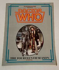 1985 FILES MAGAZINE SPOTLIGHT ON DOCTOR WHO THE FOURTEENTH SEASON TOM BAKER