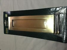 Victorian brass letterbox brand new sealed