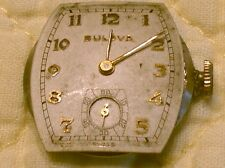 Nice Vintage 1930s Bulova 10BX 17 Jewel Wrist Watch Works Case Back FOR REPAIR