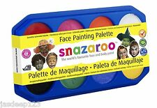 Snazaroo Face Paint Palette Kit 8 x 18ml Colours Fancy Dress Make Up Childrens