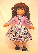 """Doll Clothes AG 18"""" Irish Dance Dress 6-Pc Lavender Made For American Girl Dolls"""