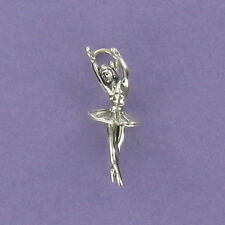 Ballerina Charm Sterling Silver for Bracelet Ballet Dancer Classical Tutu