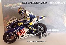 MINICHAMPS VALENTINO ROSSI 1/12 SET YAMAHA + FIGURE 2009 GP VALENCIA WORLD C.