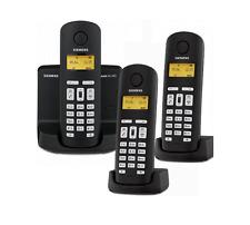 Siemens Gigaset AL145 / AL 145 Trio analog Telefon + Anrufbeantworter schwarz