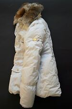 Canadiens ITALY QUALITY WARM WINTER PUFFER DOWN JACKET COAT RABBIT FUR I42 F38