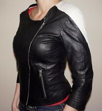 Armani Exchange Leather Jacket New A/X Womens Jacket $378 Retail Size S
