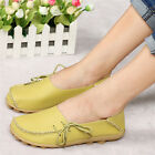 Women Leather Comfort Casual Walking Bowed Flat Shoes Loafers Moccasin New Cheap