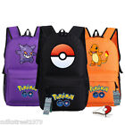 Pokemon Go Backpack Pikachu, Gengar, Squirtle, Charmander School Bag w/ buckle