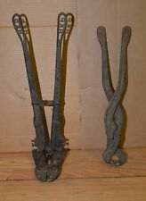 2 blacksmith bolt rod & chain cutter Porter swivel head & Giant forge tool lot