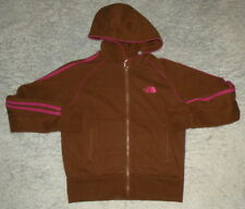 womens NORTH FACE Brown & Magenta Striped Full Zip Hoodie Jacket sz S