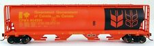 Bachmann HO Scale Train 4 Bay Hopper Government of Canada Red 19134