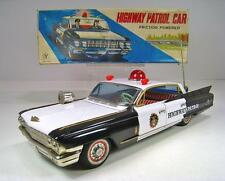 "YONEZAWA Tin Friction 1962 Cadillac Police Car 14"" Excellent Condition With Box"