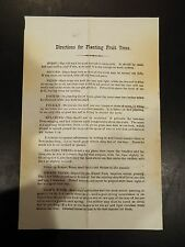 Sawyer & Co. Directions for Planting Fruit Trees Advertisement 1871