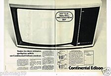 Publicité advertising 1976 (2 pages) Téléviseur Couleur Continental Edison