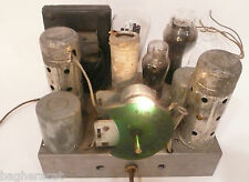 """vintage* """"FAMOUS"""" CATHEDRAL 5 TUBE RADIO: Non-working CHASSIS w/ 5 TUBES"""