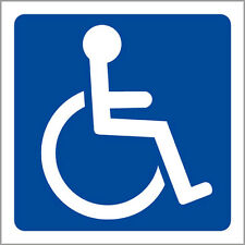 "Handicap Signs window Sticker Decal 7""x7"""