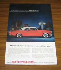 1955 Vintage Ad The '55 Chrysler Windsor 2-door Motor Car Named Terrific