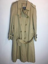 Burberry Trench Coat Men's Long Jacket Beige 100% Wool Removeable Liner
