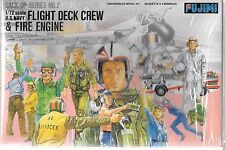 Fujimi US Navy Modern Flight Deck Crew and Fire Engine in 1/72  35002
