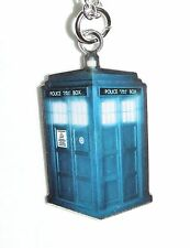 NEW Doctor Who Blue TARDIS Dog Tag Style Pendant Necklace