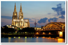 Cathedral in Cologne Germany - Travel Art Print POSTER
