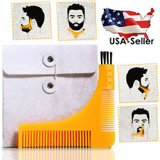 Beard Shaper Styling Shaping Tool Face Neck Goatee and Two Sided COMB US SELLER