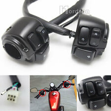 1 Pair Black Handlebar Switch Control with Wire Harness for Harley-Davidson New