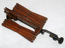 ANTIQUE SEWING THREAD YARN WINDER TABLE TOP CLAMP EXTENDABLE ARMS