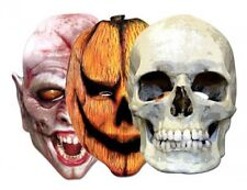 3 x Horror Mask Pack - Pumpkin & Vampire - Skull Masks