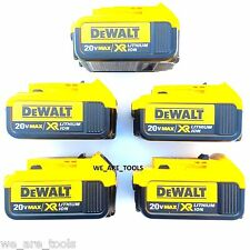 5 New Genuine Dewalt 20V DCB204 4.0 AH Lit-ion Batteries For Drill, Saw, 20 Volt