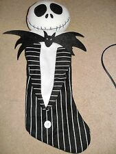 THE NIGHTMARE BEFORE CHRISTMAS JACK SKELLINGTON STOCKING BLACK WHITE USED