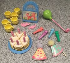 Vintage G1 My Little Pony Party Gift Pack Tutti Frutti Cake Candles Pin the Tail