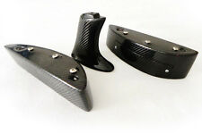 New 3 Pcs GTR Spoiler Raise Lifter Block Stand For Nissan R35 Carbon Fiber
