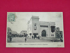 CPA CARTE POSTALE 1906 COLONIES FRANCE TUNISIE MAGHREB SFAX THEATRE REPUBLIQUE