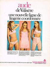PUBLICITE ADVERTISING 024   1970   VALISERE   soutien gorge sous vetements AUDE