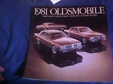 1981 Oldsmobile 88 98 and Toronado Original Color Brochure Prospekt