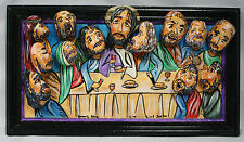 """Jesus The Last Supper """"Rocks"""" Made from river rocks, acrylic and wood Rock Art"""