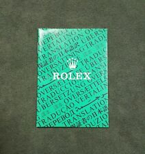 BOOKLET ROLEX TRANSLATION ANNO 2000