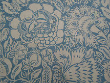 Sanderson Curtain Fabric  'Poppy Damask' 3.5 METRES Indigo/Mineral - Sojourn Col