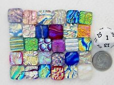 TY HANDCRAFTED FUSED DICHROIC GLASS DIAMOND CABS- LOT(30)-NEW YEAR SALE
