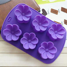3D Flower Silicone Chocolate Cake Cookie Soap Candy Mold Mould  Baking Tool