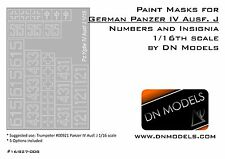 Paint Masks Set for Panzer IV Ausf.J Insignia & Numbers 1/16 Trumpeter 00921
