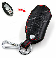 Leather Chain Bag Smart Key Case Cover Holder For Nissan 370Z Murano Rogue Juke
