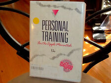 APPLE MACINTOSH PERSONAL TRAINING 90 MIN AUDIO CASSETTE AND 31/2 MEDIA DISK 1989