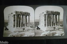 STB382 Grece Athenes temple de Athena Greece Acropolis photo STEREO albumen