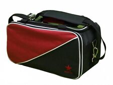 Red Star Double Tote bag Black/Red - takes two tenpin bowling balls and shoes