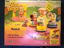 Tyco Bitsy Bears Musical Tea Cups & Bitsy Bear Theatre Sealed