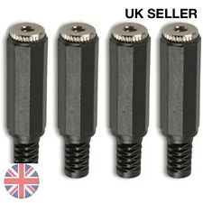 4pcs 3.5mm mini presa JACK stereo Femmina Connettore Cavo di saldatura in linea