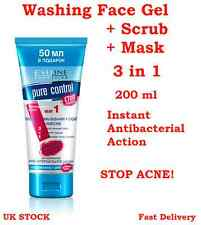 EVELINE Purifying Wash Face Gel+Scrub+Mask 3in1 - Anti Spots & Blemishes - 200ml